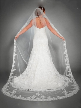 Ericdress Gorgeous 1T Lace Edge Wedding Veil