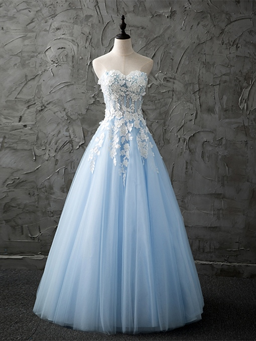 Ericdress A Line Sweetheart Applique Prom Dress With Beadings