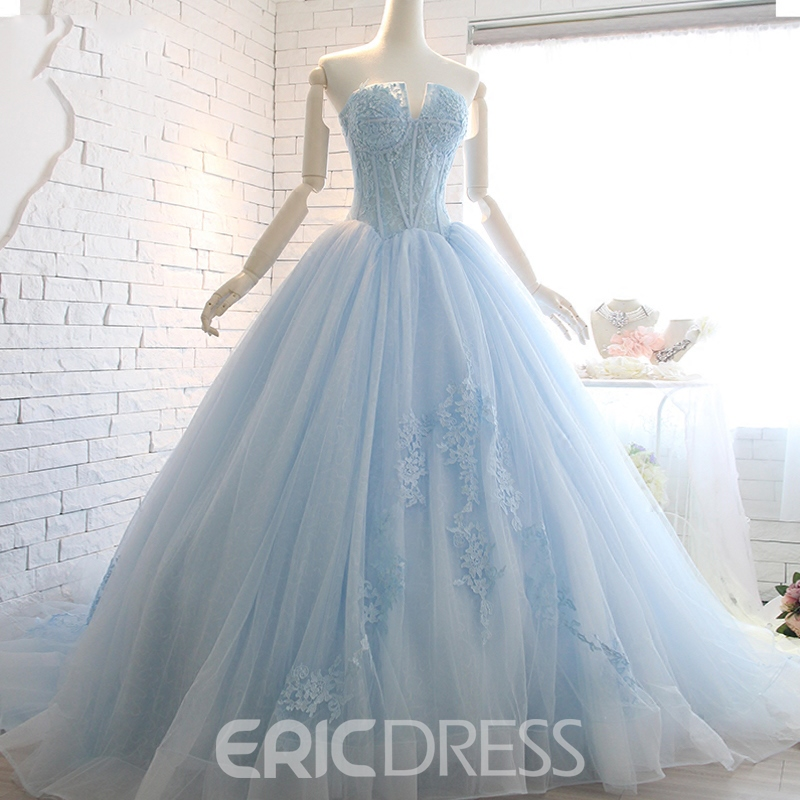 Ericdress Sweetheart Lace Ball Evening Dress With Court Train