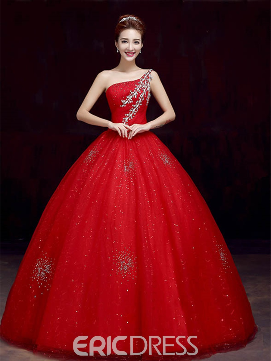 One Shoulder Ball Gowns