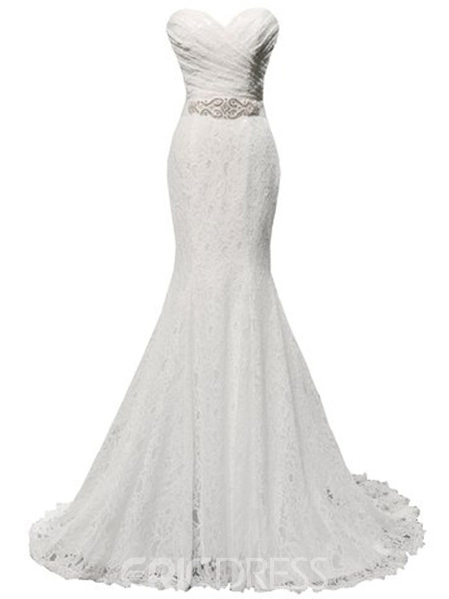 Ericdress Elegant Sweetheart Mermaid Lace Wedding Dress