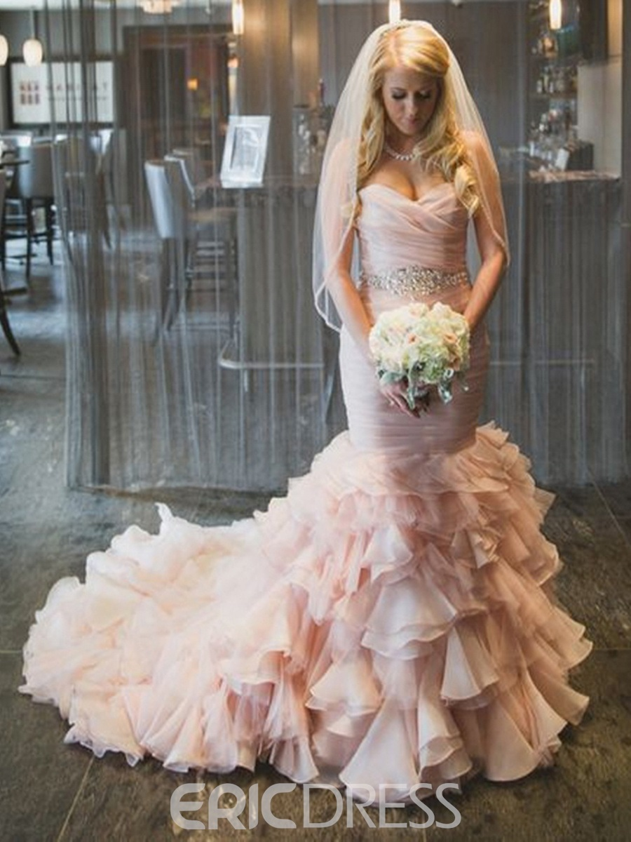 Ericdress Charming Beading Sweetheart Mermaid Wedding Dress
