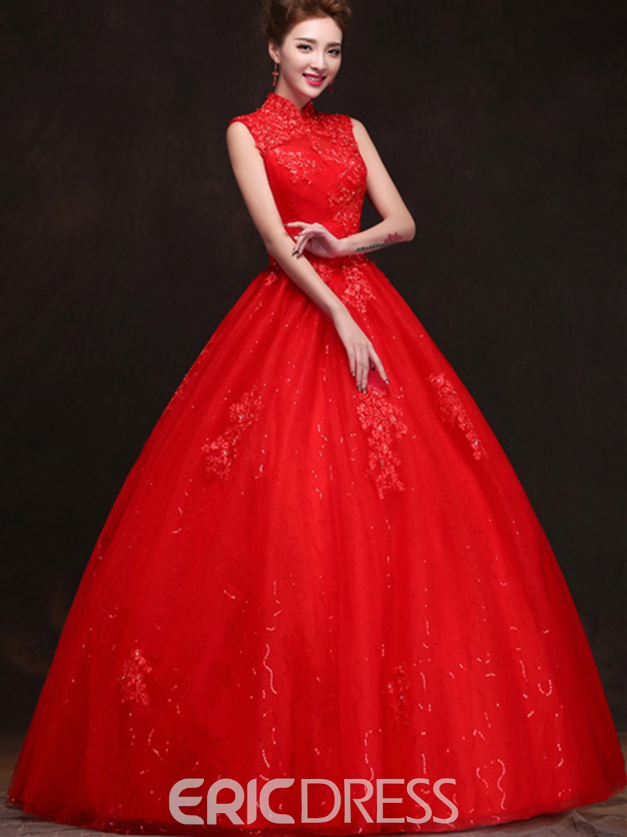 Red Ball Gown Wedding Dress