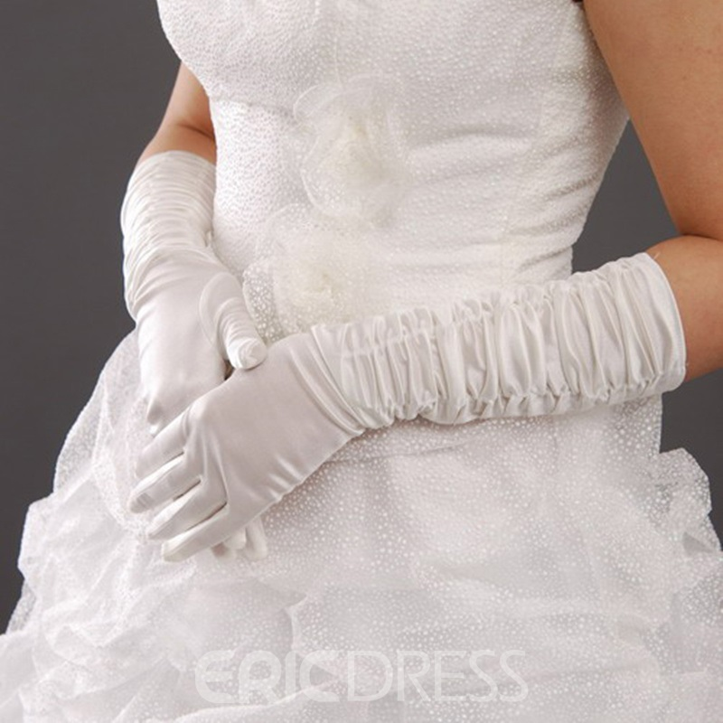 Cute Ruched Fingers Wedding Bridal Glove
