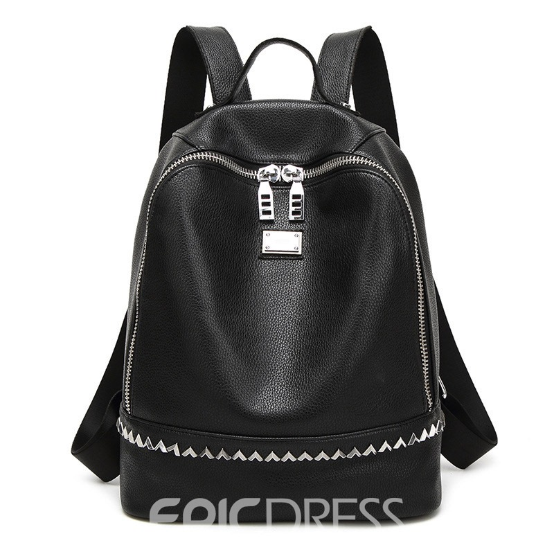 Ericdress Preppy Rivets Thread Decorated Backpack