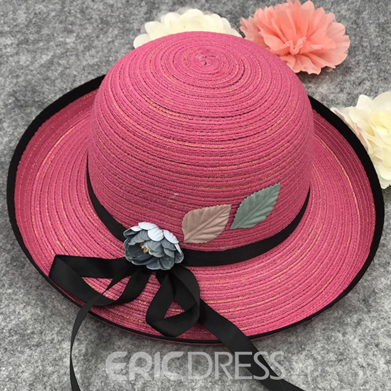 Ericdress Hemming Flower Decorated Sunhat
