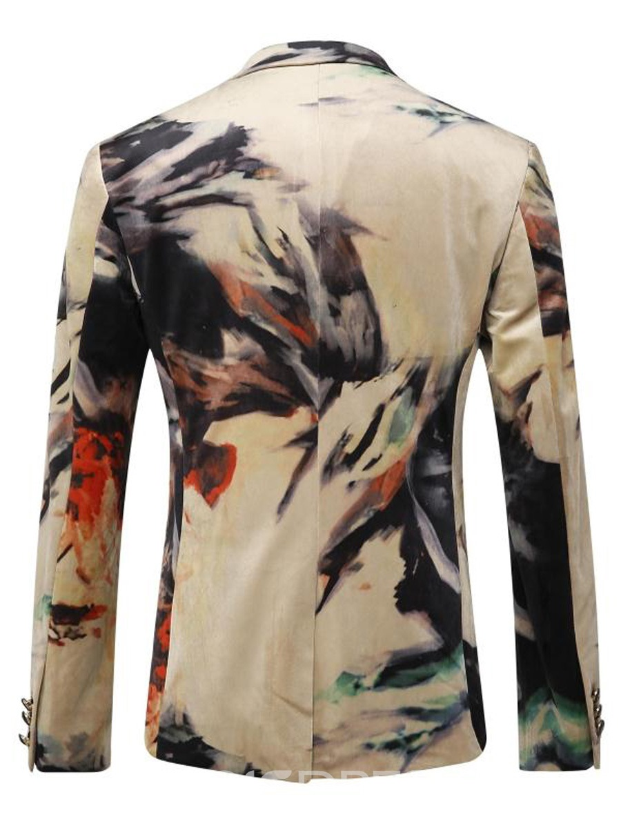 Ericdress Print Lapel Vogue Classic Men's Blazer