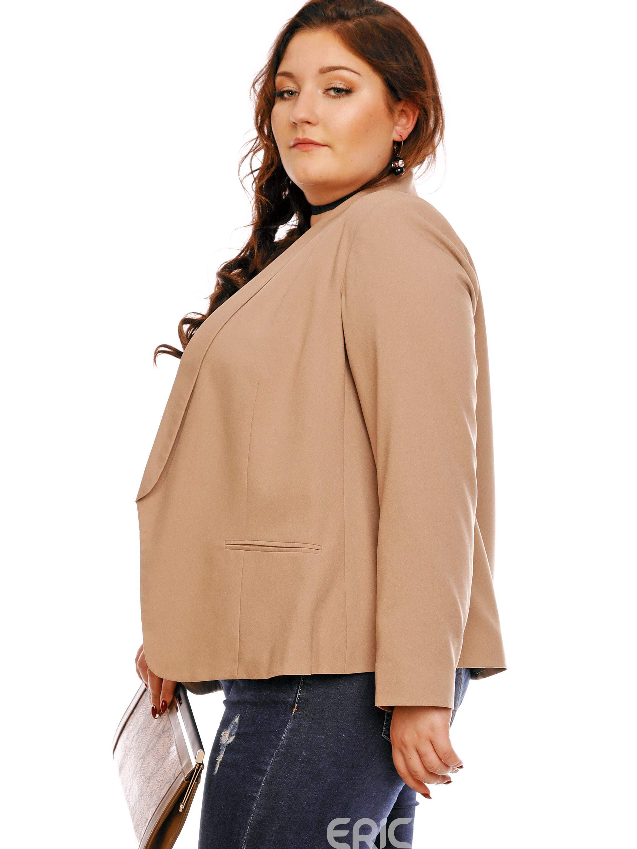 Ericdress Shawl Collar Pocket Wrapped Blazer