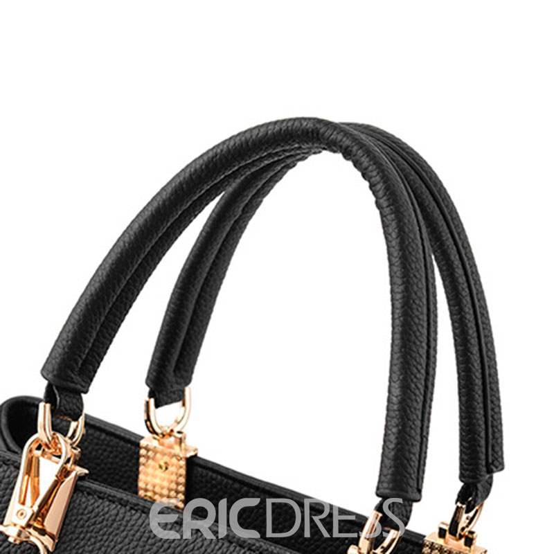 Ericdress Simple Bowtie Decorated Motorcycle Handbag