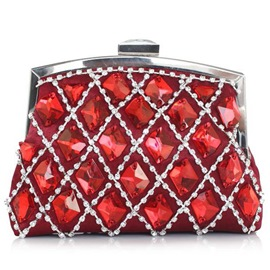Ericdress Noble Geometric Plaid Rhinestone Evening Clutch