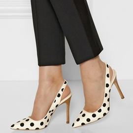 Ericdress Polka Dots Point Toe Stiletto Sandals