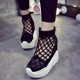 Ericdress Mesh Patchwork Side Zipper Sneakers