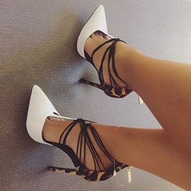 Ericdress Pointed Toe Two Part Stiletto Heels