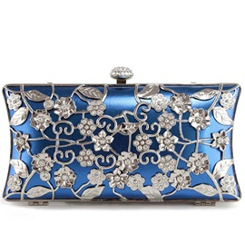 Ericdress OL Style Metal Floral Rhinestone Evening Clutch