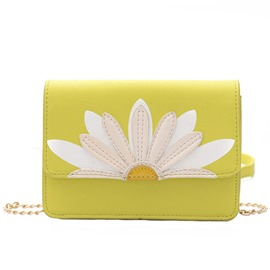 Ericdress Daisy Applique Crossbody Bag
