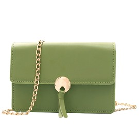 Ericdress Bright Color Chain Decorated Crossbody Bag