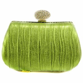 Ericdress Shiny Rhinestone Suede-Like Evening Clutch