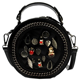 Ericdress Round Cartoon Badge Decorated Handbag