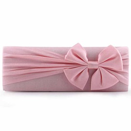 Ericdress Wrinkle Bowknot Decorated Banquet Evening Clutch