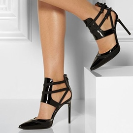 Ericdress Black Chic Caged Stiletto Pumps