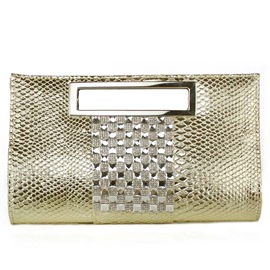 Ericdress Dazzling Sequins Patent Leather Evening Clutch