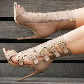 Ericdress Stylish Buckled Cage Fashion Booties