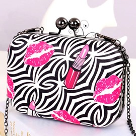 Ericdress Zebra Stripe Decorated Evening Clutch