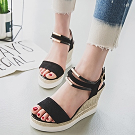 Ericdress Pretty Kintting Open Toe Wedge Sandals