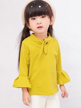 Ericdress Flare Sleeve Bow 2 Color Spring Girls T-Shirt