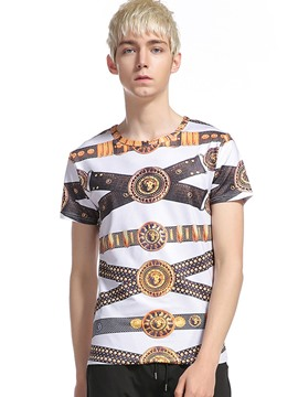 Ericdress Unique Casual Pattern Men's T-Shirt
