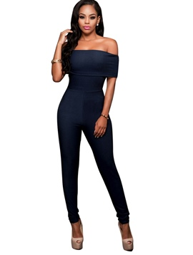 Ericdress Boat Neck Tight Women's Jumpsuits