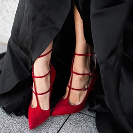 Ericdress Red Sexy T Strap Stiletto Heels