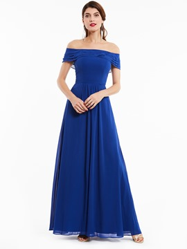 Ericdress A Line Off The Shoulder Chiffon Long Evening Dress