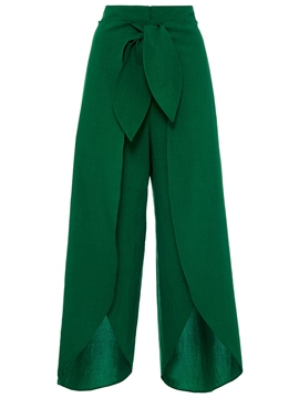 Ericdress Elastics Asymmetric Wide Legs Pants