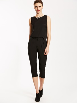 Ericdress Plain T-shirt And Pencil Pants Suit