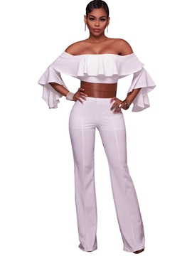 Ericdress Boat Neck Belt Women's Jumpsuits