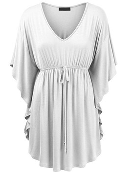 Ericdress Ruffle Plus Size Tunic T-Shirt