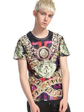 Ericdress Street Style Casual Print Men's T-Shirt