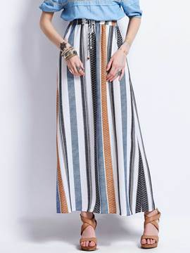 Ericdress Color Block Stripe A-Line Women's Skirt