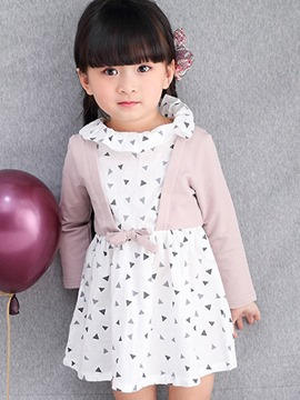 Ericdress Double-Layer Long Sleeve Ruffled Collar Girls Dress