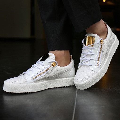 Ericdress Sequin Zipper Round Toe Men's Sneakers