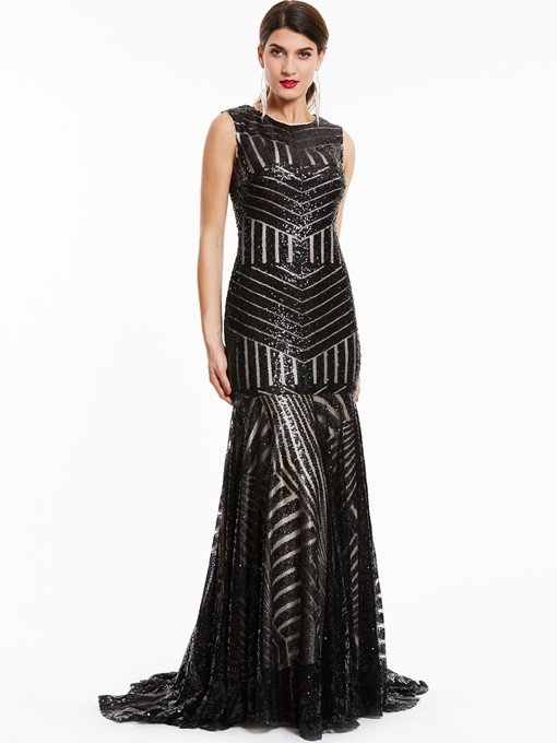 Ericdress Scoop Neck Sequins Mermaid Evening Dress