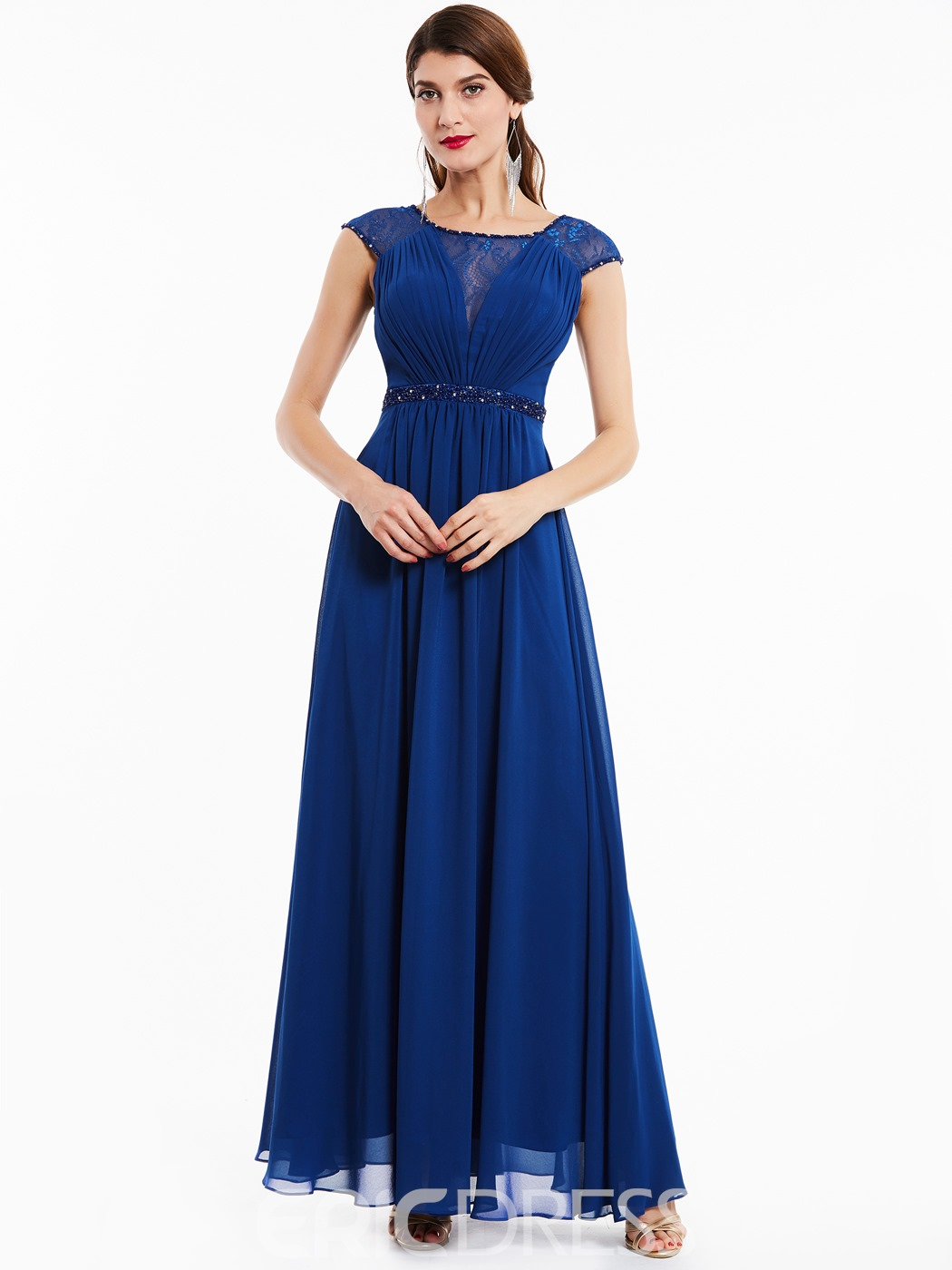 Ericdress Scoop Neck Beaded A Line Evening Dress