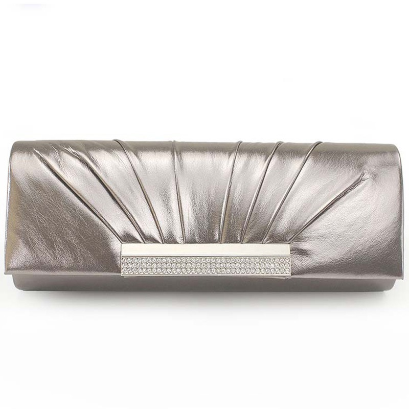 Ericdress European Pleated PU Evening Clutch