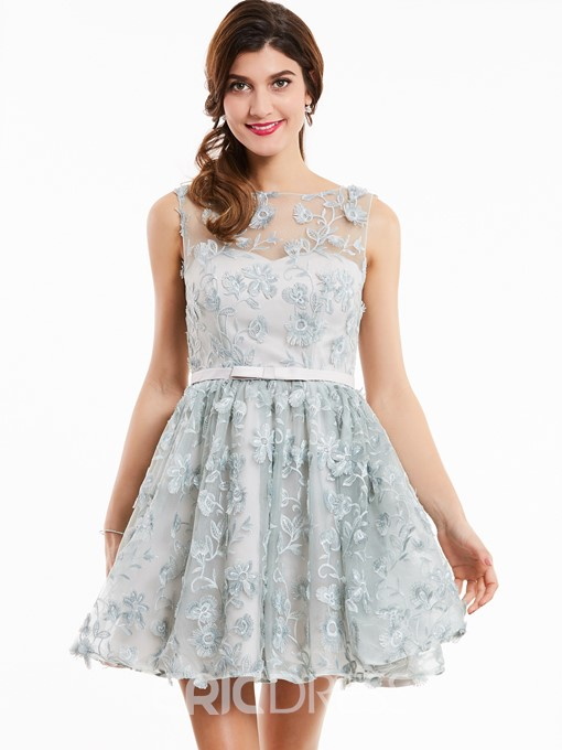 Ericdress Scoop Neck Lace A Line Short Homecoming Dress