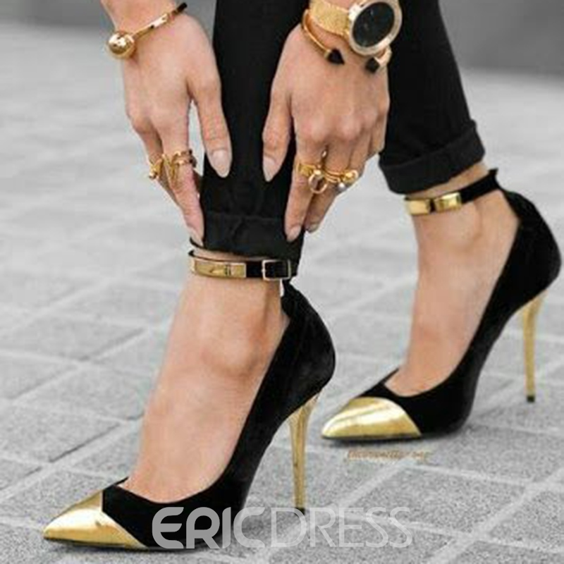 Ericdress Patchwork Point Toe Prom Shoes