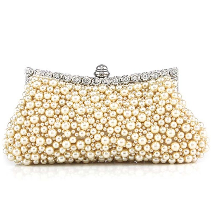 Ericdress Handmade Beaded PU Evening Clutch