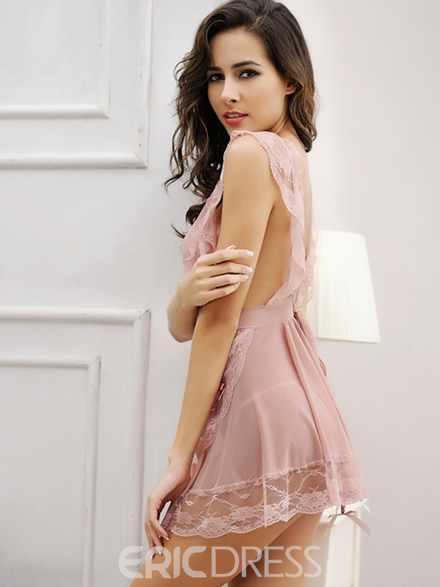 Ericdress Solid Color Lace Falbala Costume