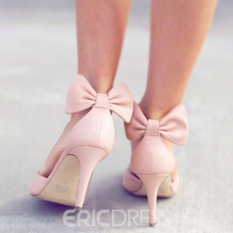 Ericdress Sweet Back Bow Stiletto Heels