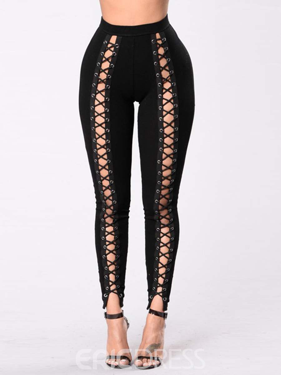 Ericdress High Waisted Tight Black Perspective Women's Leggings